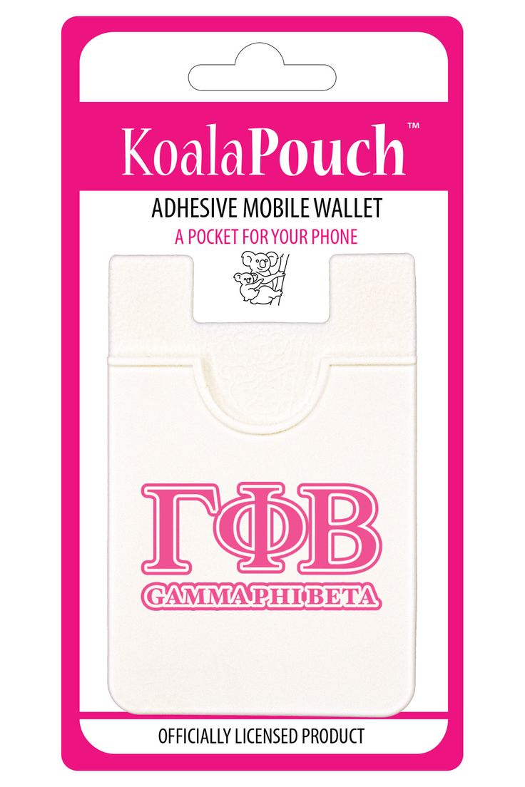 Show your sorority pride with the Koala Pouch, adhesive cell phone wallet, the…