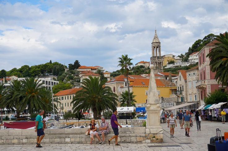 Island Hopping in Croatia, Hvar town on the island Hvar.