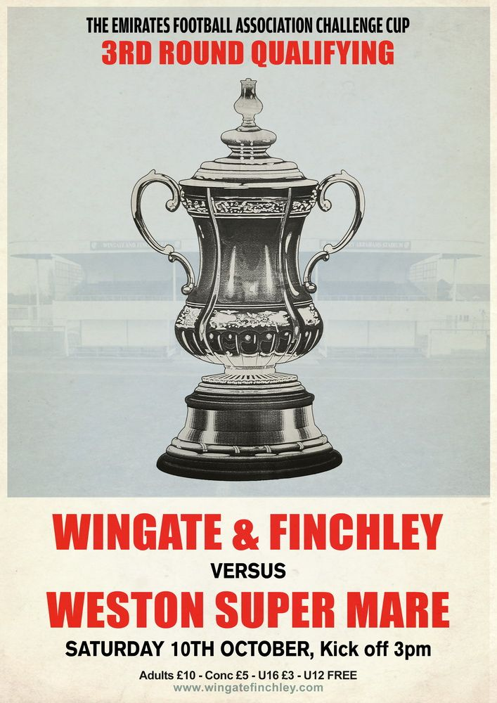 FA Cup match between Wingate & Finchley and Weston Super Mare #retro