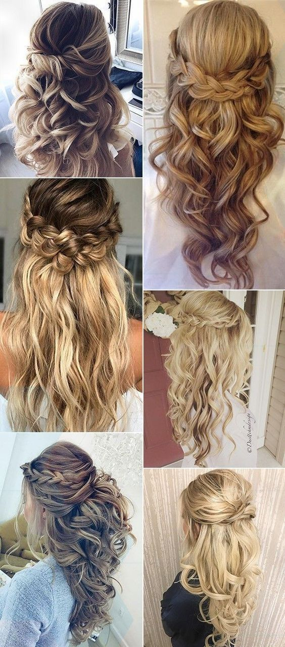 Great Amazing 2017 trending helped up half wedding hairstyles #weddinghairstyles, #happy #styles # hairstyles2019domen