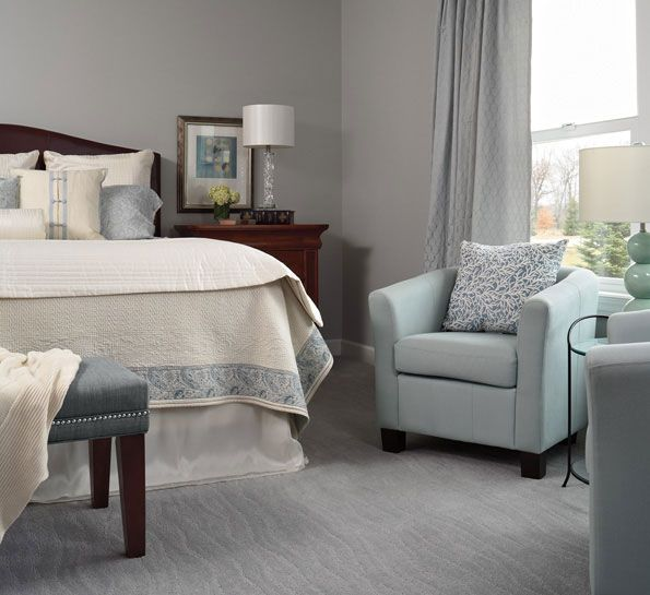 Calming Shades Of Blue Can Create A Calming Comfortable Retreat And Make A  Room Feel Elegant. Even The Wave Pattern In The Carpet Adds A Sense Of Calm  To ...