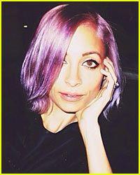 Nicole Richie's Purple Hair Color. Would you dye your hair purple?