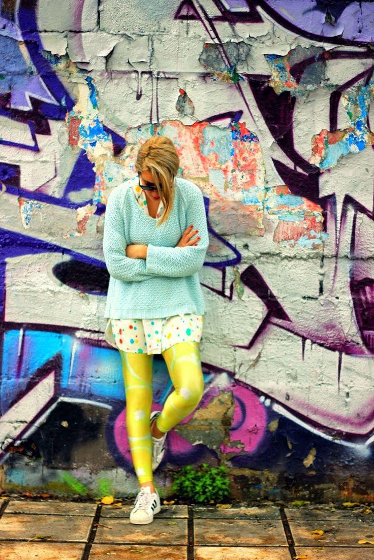 Christina wearing the grapefruit PCP leggings #pcpclothing #pcpleggings #pcpinia