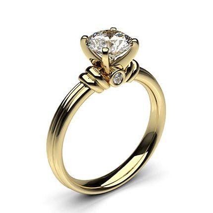 Buy 4 Prong Setting Plain Engagement Ring Online UK - Diamonds Factory
