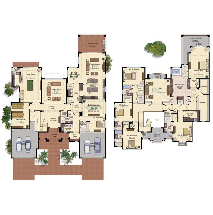 Palazzo New House Plan In The Bridges Delray Beach Florida