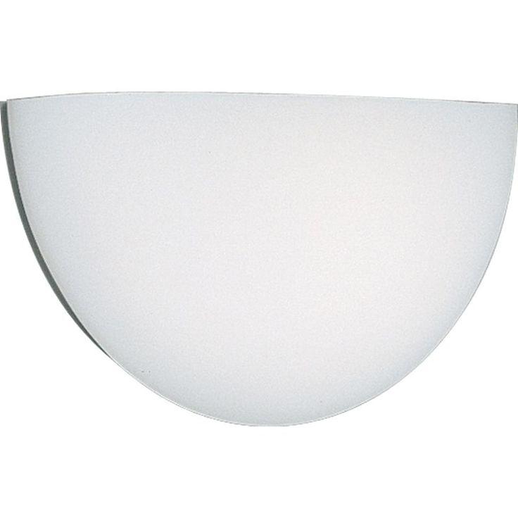 Slumped Glass Wall Sconces : Progress Lighting P7121 Wall Pockets Diffuser Series Opal White Acrylic Cloud Wa Opal White ...