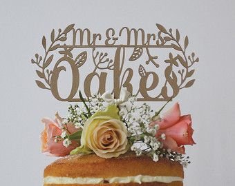 A Beautiful Cake Topper To Complete Any Elegant Romantic Rustic Woodland Inspired Wedding Our Toppers Are Intricately Laser Cut Form Mount Board