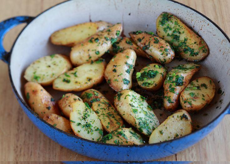 Kipfler potatoes meuniere | FOODWISE