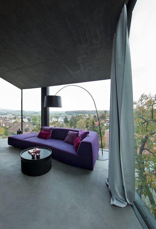 Modern concrete and glass structure in Switzerland: Trübel