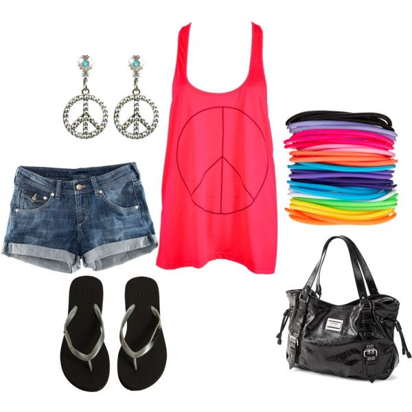 Outfit: Peace Outfits, Fun Summer, Dreams Closet, Signs Earrings, Summer Outfits, Baby Girls, Earrings Cut, Fashion Mi, Bags