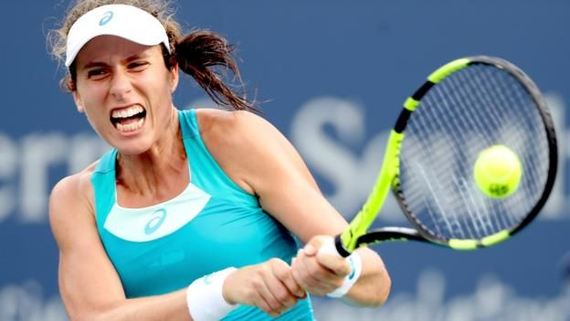 Konta's match against Halep lasted nearly two hours Britain's Johanna Konta was beaten 6-4 7-6 (7-1) by world number two Simona Halep to exit the Cincinnati Open in the quarter-finals. Konta, who beat the Romanian in the last eight of Wimbledon, took an early lead in a first set...