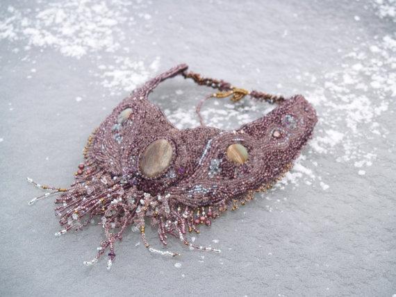 Beaded necklace with gemstones Adventure land by Lajouredotcom, kr1299.00