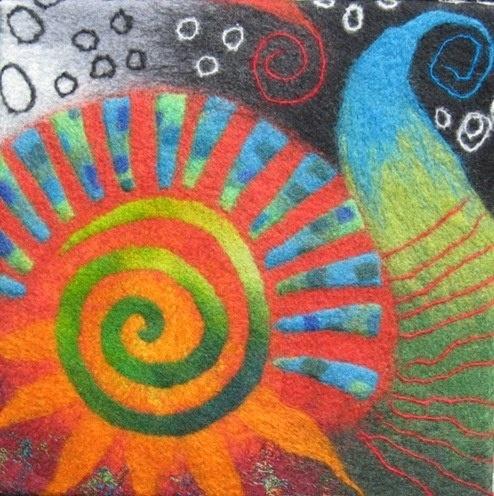 spirale en décoration feutrée