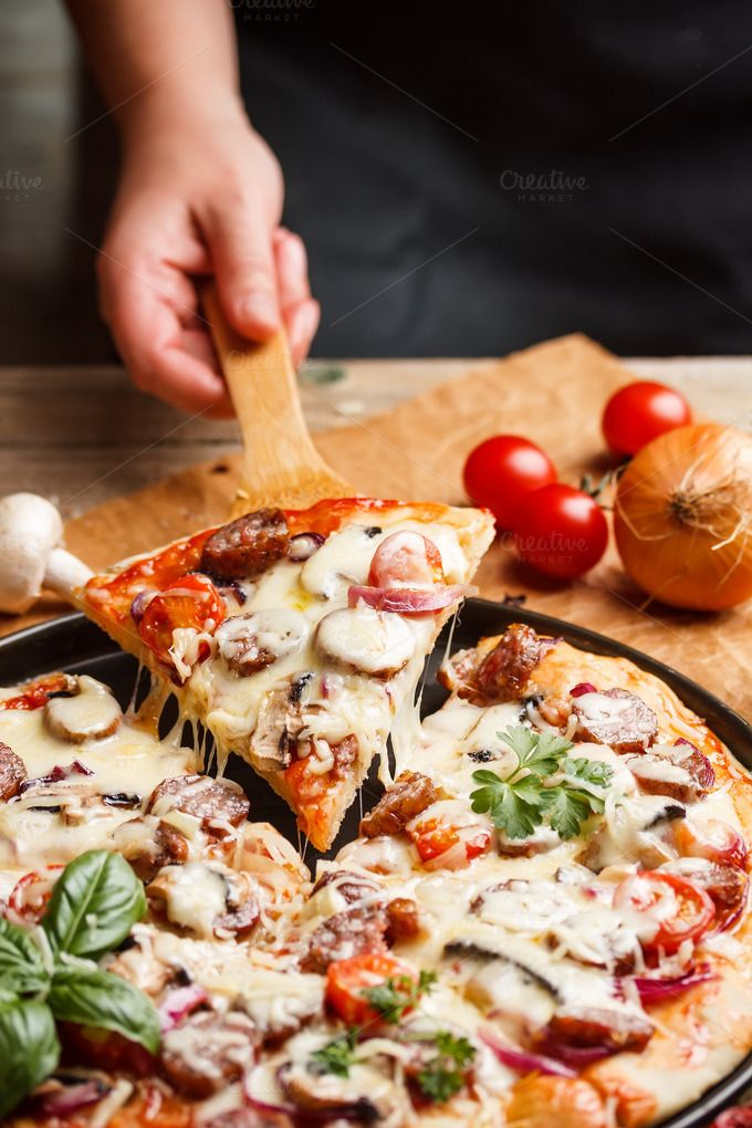 Pizza by Grafvision photography on @creativemarket