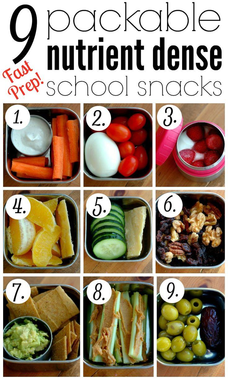 9 Packable Nutrient Dense School Snacks