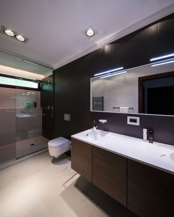 Modern Luxury Bathroom from Penthouse Apartment Design Defining Elegant and Beautiful Interior  600x749 Penthouse Apartment Design Defining Elegant and Beautiful  Interior