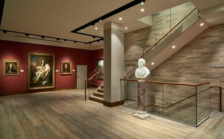 "Philip Mould Art Gallery Supplied with ""Antique Washed"" Chevron Parquet (21x60x450mm)  and Engineered Planks (21x220mm) 