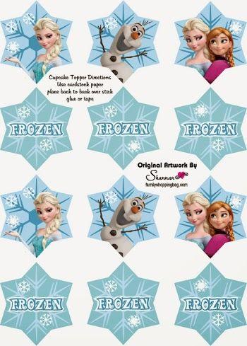 Frozen: Toppers para Imprimir Gratis. | Ideas y material gratis para fiestas y celebraciones Oh My Fiesta!
