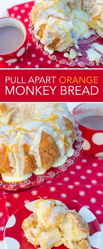 Pull Apart Orange Monkey Bread - Perfect for the holidays!
