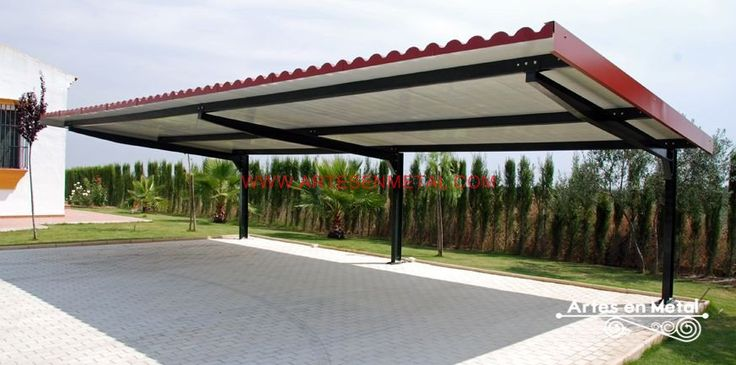 11 best cantilevered roof images on pinterest cantilever - Pergolas metalicas ...