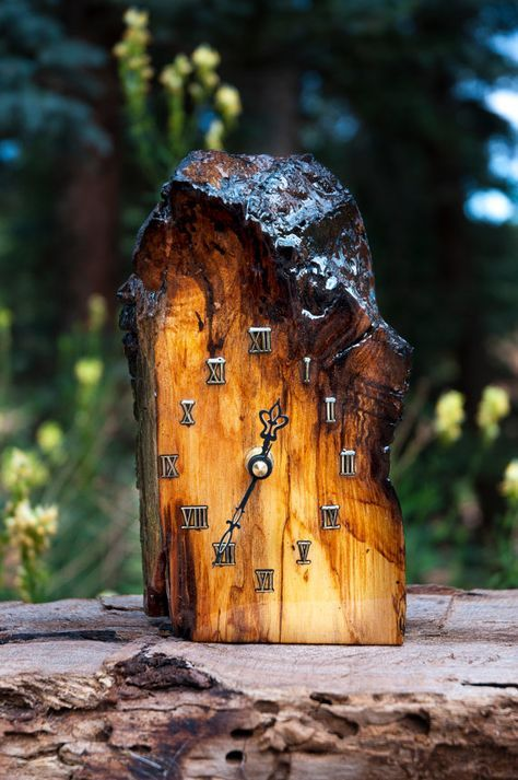 Customizable handmade natural edge wood clock