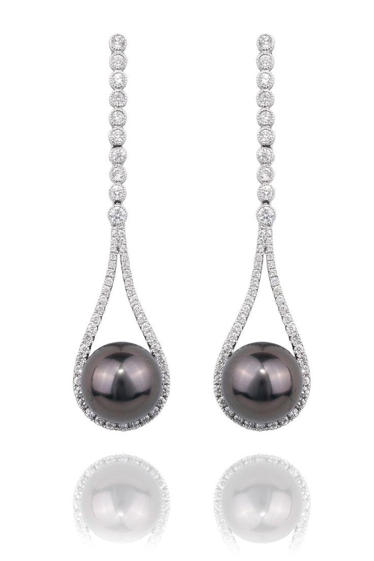 Dsl Pearl 10mm Tahitian Pearl Teardrop Earrings  Oster Jewelers