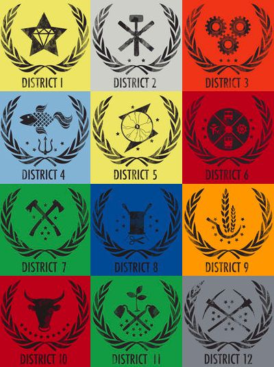 Hunger Games Districts!!!!