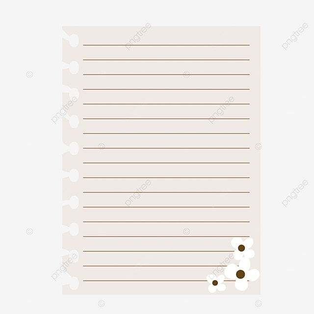White Torn Line Paper With Flower White Linepaper School Png And Vector With Transparent Background For Free Download In 2021 Lined Paper Paper Free Vector Graphics