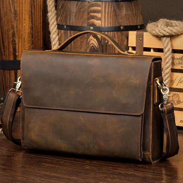Leather Messenger Bag, Leather Briefcase, Brown Messenger Bag, Laptop Bag, Leather Laptop Bag MS053