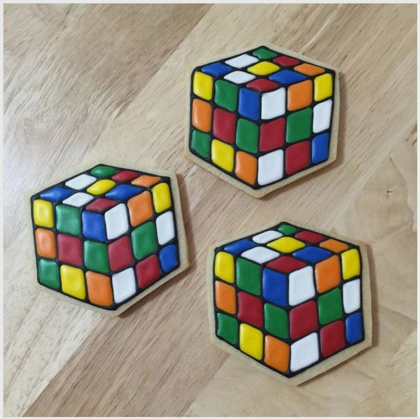 80's cookies rubik's cube