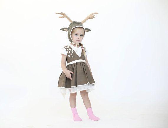 Halloween Deer costume girls dress up Kids by inbalcarmistudio