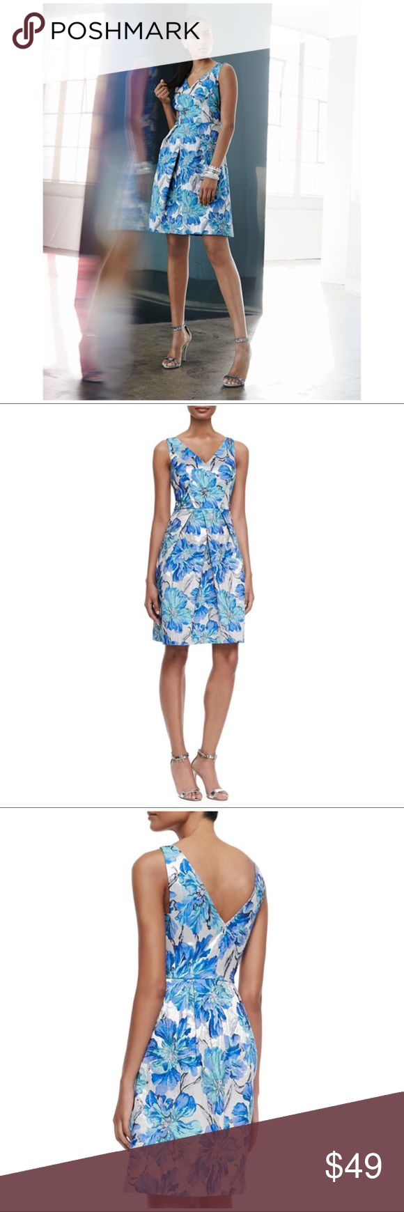 Kay Unger Floral-Brocade Cocktail Dress $550  Size 10. Originally $550. Still selling on the website.  Kay Unger Dresses