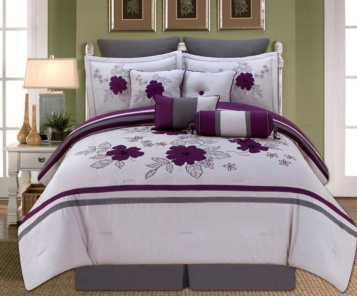 28 Best Purple Comforter Sets Queen Images On Pinterest