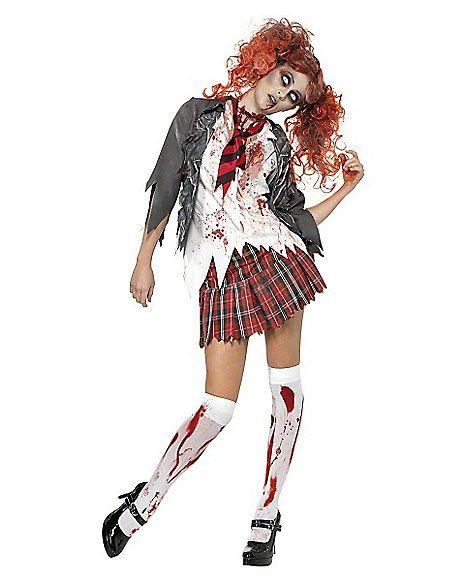High School Zombie Girl Adult Womens Costume - Spirithalloween.com