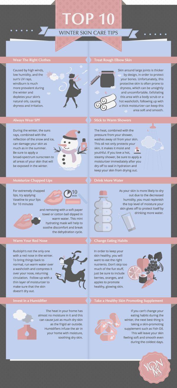 Top 10 Winter Skin Care Tips Infographic   Yon-Ka Skin Care Blog