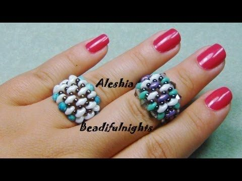 Bold Super Duo Beaded Ring Tutorial - YouTube
