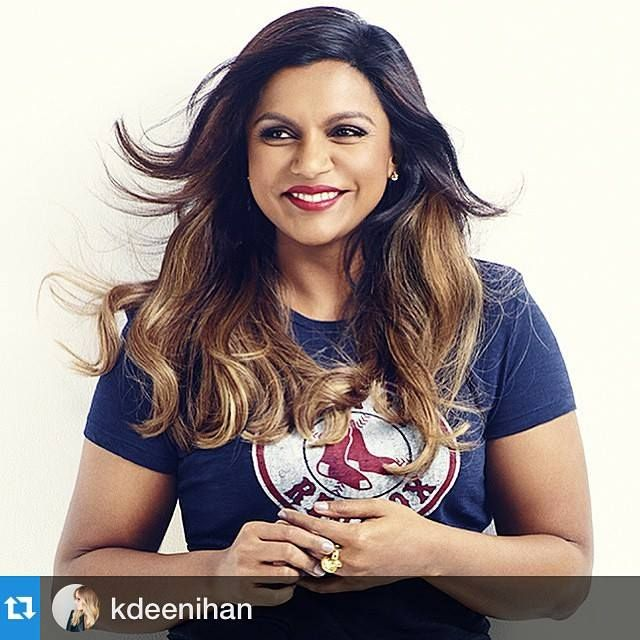 Mindy Kaling's beautiful locks Will have to try a similar color/layered look for my next appointment:)