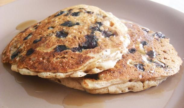 Not only are these deliciously, fluffy pancakes gluten-free, this recipe is vegan as well.
