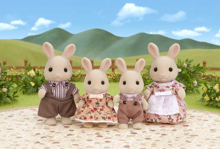 Κάθε βράδυ τα κοιτάζω πριν κοιμηθώ και γεμίζουν γλύκα τα όνειρα μου. Sylvanian Families GR ♥ Milk Rabbit Family ♥