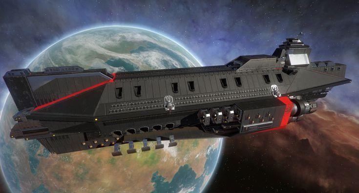 United Empire Spaceship Concept by : Thomas du Crest : www.artstation.co... Aur...