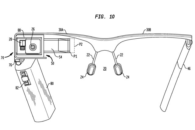 New Google Glass Patent Is The Most Comprehensive Yet For Google's Face-Based Wearable Computer