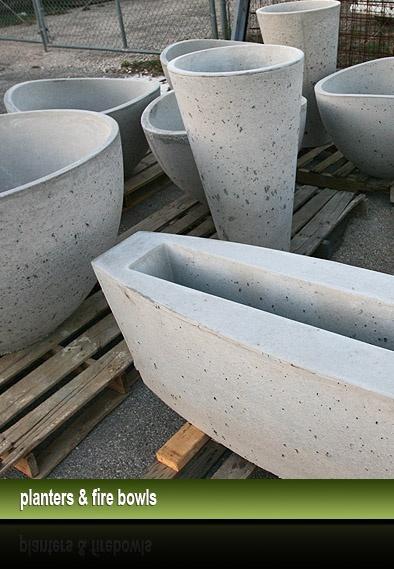 Riverbed Concrete - concrete planters, fire bowls, bowls, pots, basin - San Antonio, Austin, Hill Country, Boerne, TX