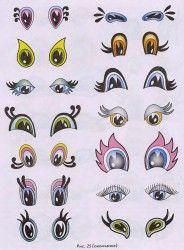 разные формы глаз для игрушек