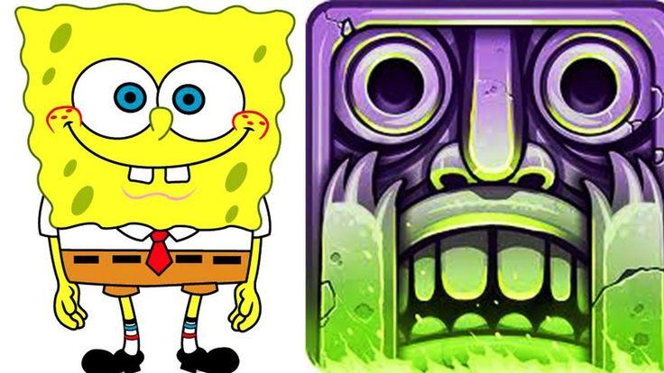 Fun kids video Nickelodeon games SpongeBob Game Station vs Temple Run 2