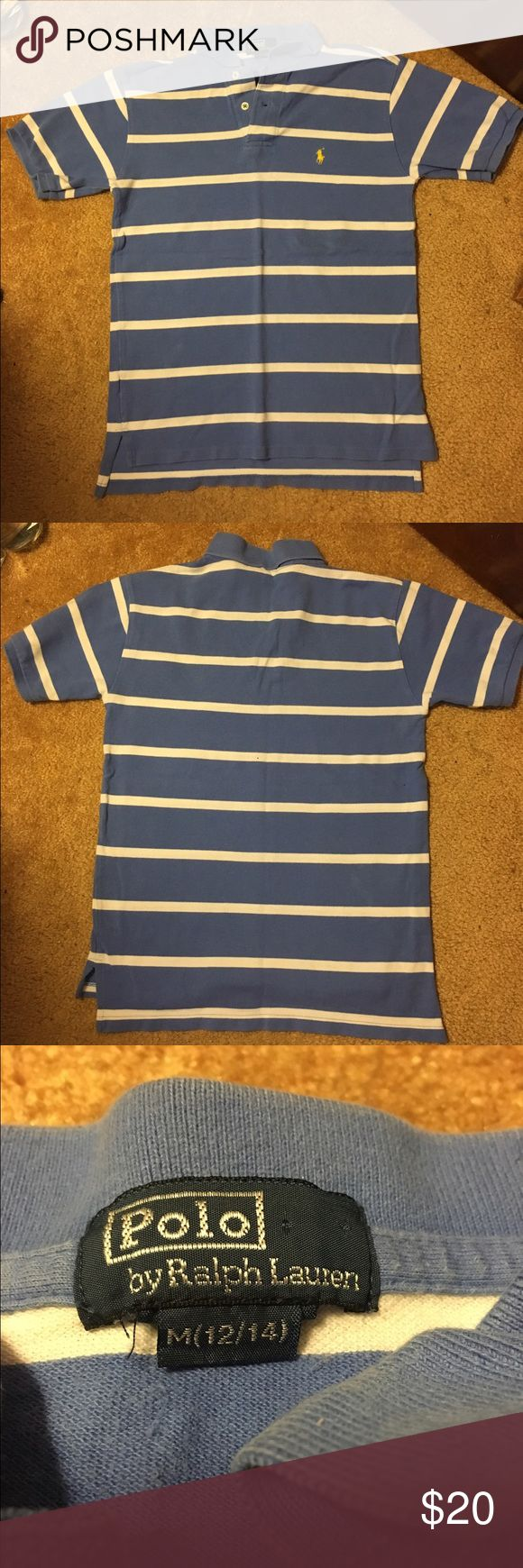 Polo Ralph Lauren boys striped polo shirt Lightly worn still in good condition boys size M(12/14) Polo by Ralph Lauren Shirts & Tops Polos