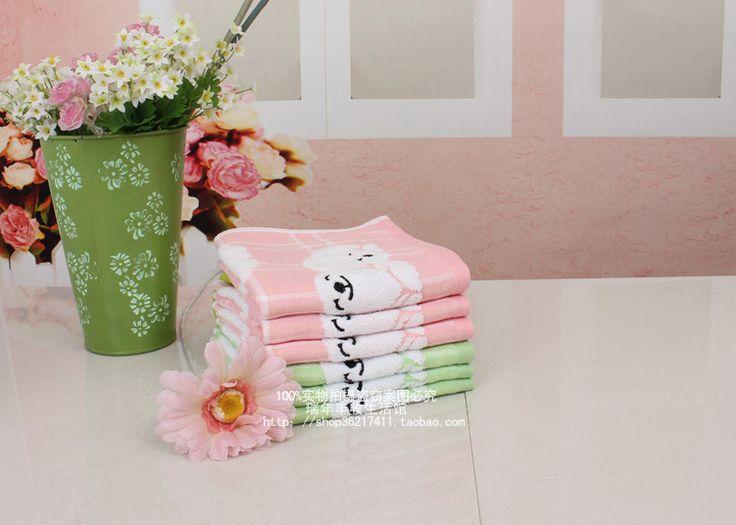 100% хлопок полотенце полотенца для рук childen полотенце вышивка полотенце 2 цвета 34 * 34 см мягкий хорошая вода поглощение 2 частей / серия