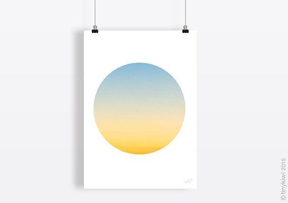 Geometric print, Printable poster, Soft colours, Cloud print, Wall art, Sky art, Instant download, Home decor art, Minimal art, Circle art