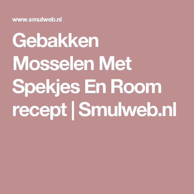 Gebakken Mosselen Met Spekjes En Room recept | Smulweb.nl