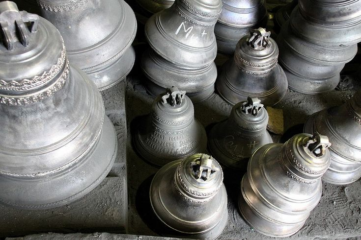 "In a little city of Tutaev of the Yaroslavl region there is a bell casting factory. Probably it can be called world-known. Bells of Tutaev ring all over Russia, Ukraine and Kazakhstan.  Each bell has its own ""voice"", the purer sound it produces, the more expensive it is. On some of the bells chalk marks can be noticed – these are musical notes they sing."