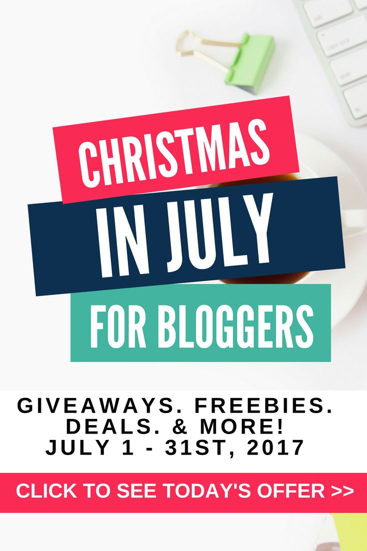 Bloggers, looking for some fun this summer? Join us for Christmas In July for Bloggers - 31 days of blogging giveaways, blogging deals, blogging freebies, and blogging fun! Don't miss another day of goodies - join us now!